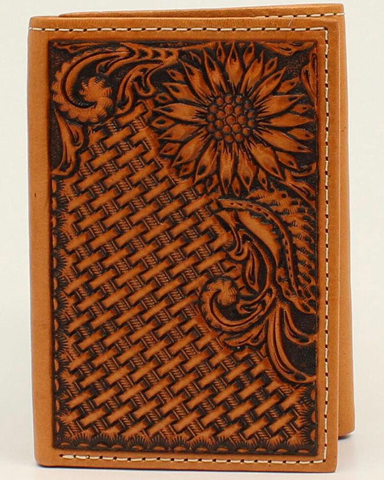 Nocona Men's Sunflower Trifold Western Wallet, No Color, hi-res