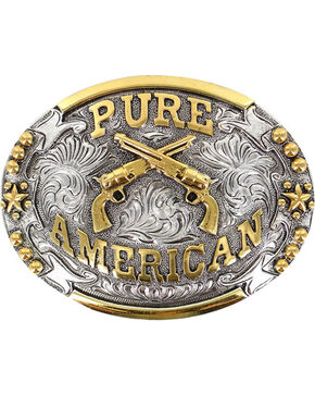 Cody James® Pure American Buckle, Silver, hi-res