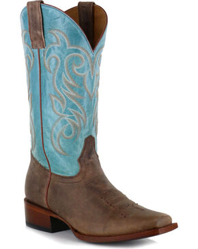 Shyanne® Women's Volcano Square Toe Western Boots , Brown, hi-res