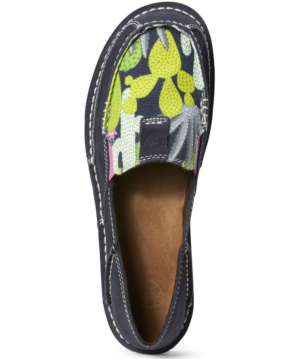 Ariat Women's Mint Cactus Cruiser Shoes - Moc Toe, Navy, hi-res