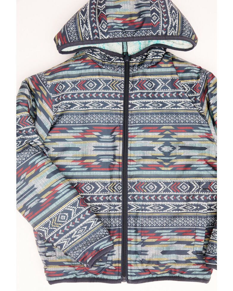 Cruel Girl Girls' Reversible Sherpa Jacket, Purple, hi-res