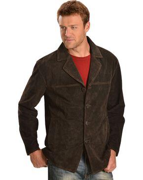 Scully Men's Boar Suede Car Coat, Chocolate, hi-res