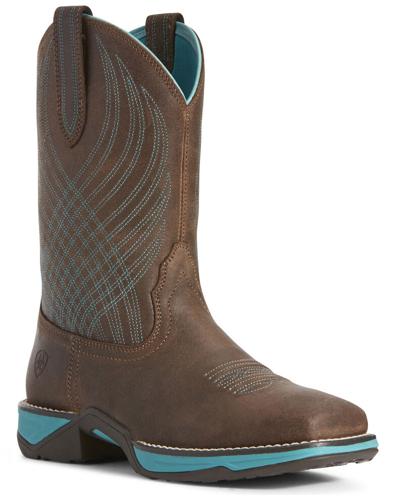 Ariat Women's Anthem Java Western Boots - Square Toe, Brown, hi-res