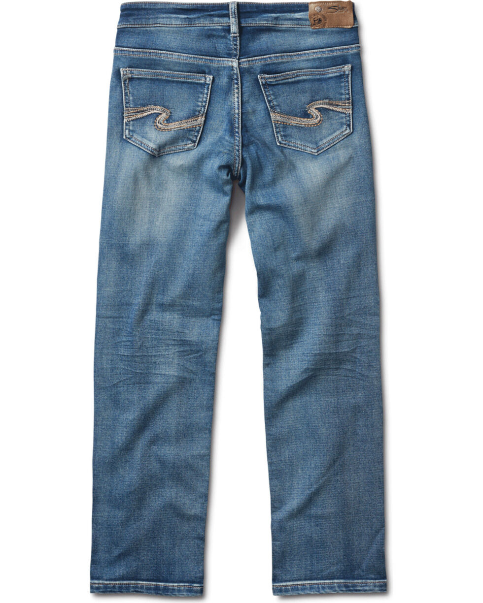 Silver Boys' Benny Medium Wash Straight Leg Jeans, Indigo, hi-res