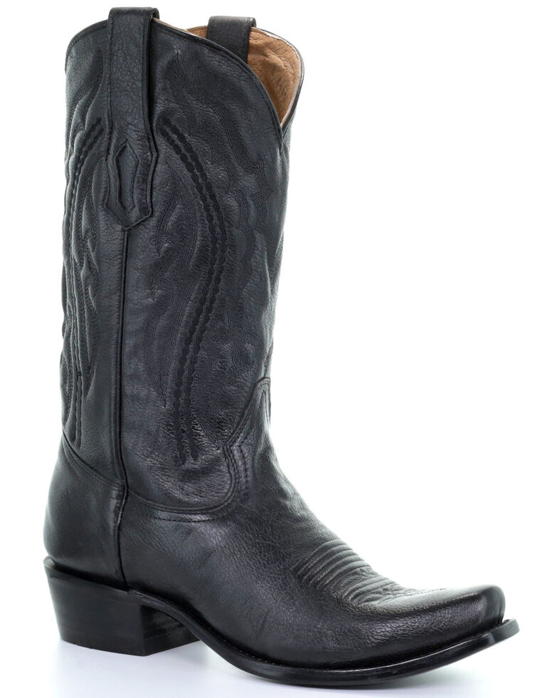 Corral Men's Will Black Western Boots - Narrow Square Toe, Black, hi-res