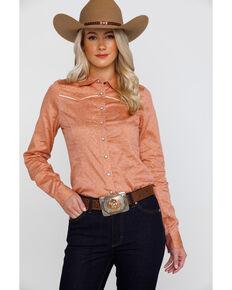 ddae4a86f31 Shyanne Life Women s Ditsy Woven Core Long Sleeve Western Shirt