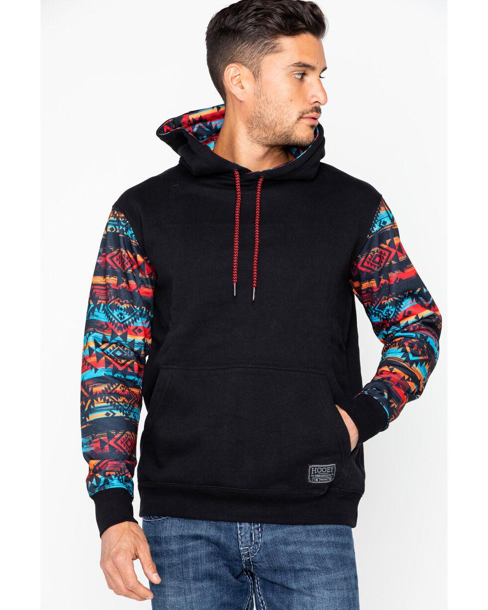 Hooey Men's Chimayo Hooded Sweatshirt, Black, hi-res