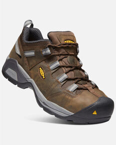 Keen Men's Detroit XT ESD Work Boots - Steel Toe, Brown, hi-res