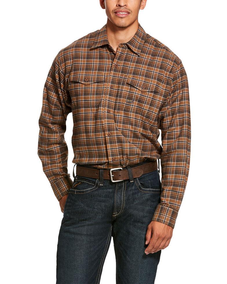 Ariat Men's Zane Plaid Rebar Flannel Durastretch Long Sleeve Work Shirt - Tall, Multi, hi-res