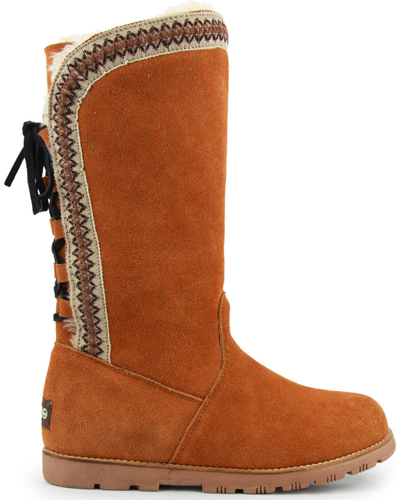 Lamo Women's Madelyn Suede Winter Boots - Round Toe, Chestnut, hi-res
