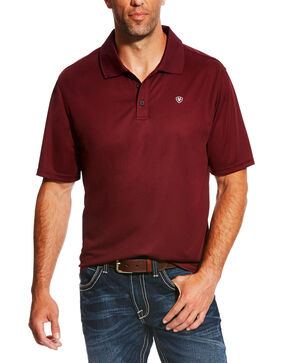 Ariat Men's Tek Polo Shirt, Maroon, hi-res