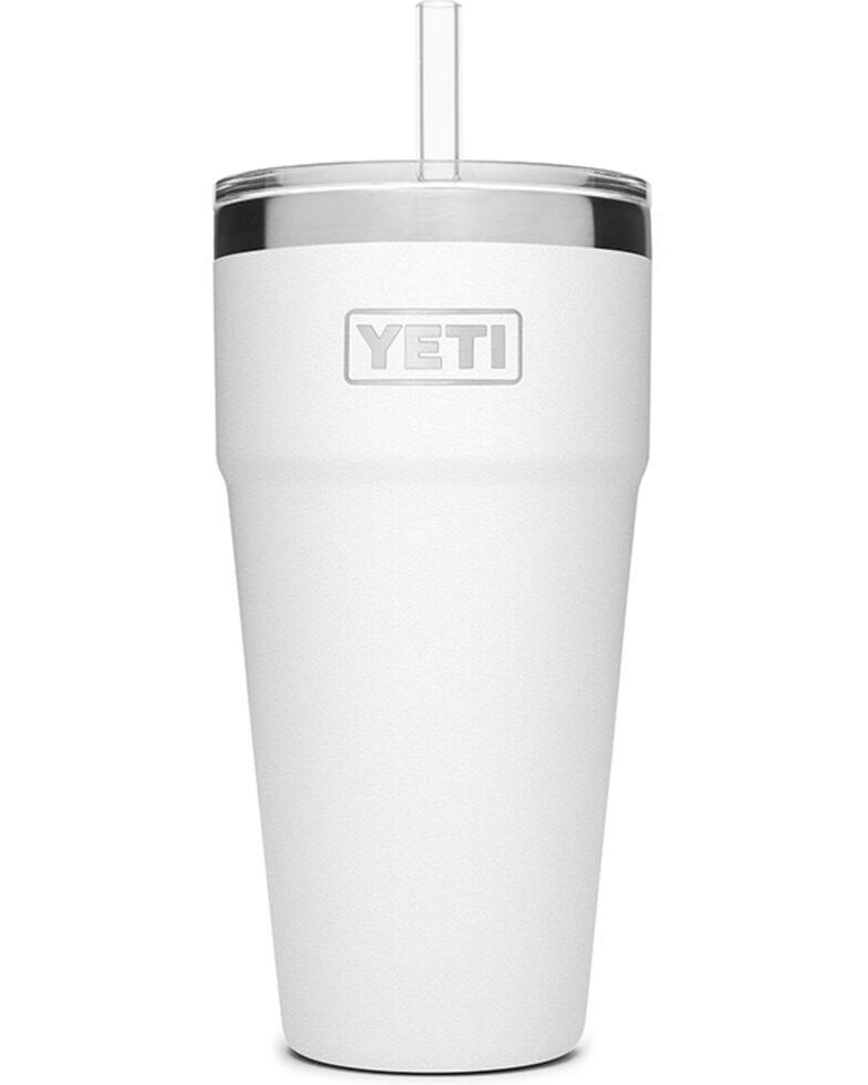 Yeti Rambler 26oz White Straw Cup, White, hi-res
