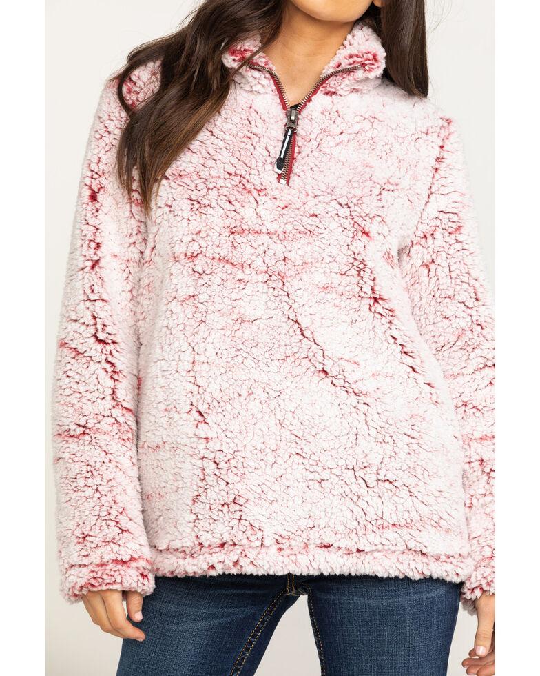 Roper Women's Wine Fuzzy Pullover , Wine, hi-res