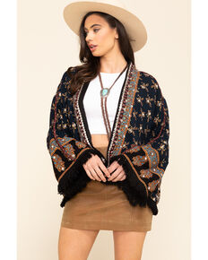Free People Women's Navy Ray of Lights Jacket , Navy, hi-res