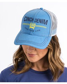 Cinch Women's Lead This Life Trucker Cap, Blue, hi-res