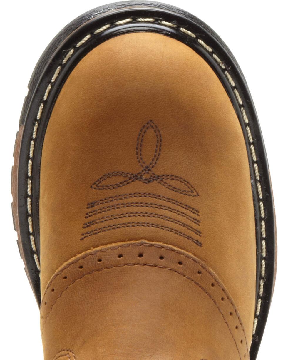 Rocky Boys' Branson Roper Western Boots - Round Toe, Tan, hi-res