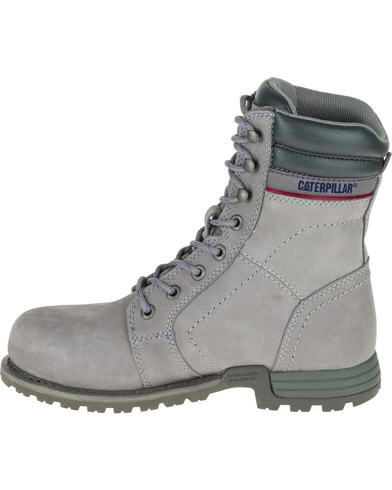 CAT Women's Echo Waterproof Steel Toe Work Boots, Grey, hi-res
