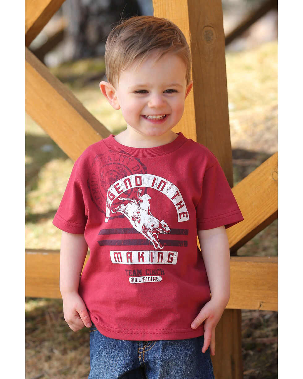 Cinch Toddler Boys' Bull Rider Graphic T-Shirt , Red, hi-res