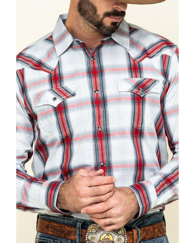Cody James Men's Rough Talk Plaid Long Sleeve Western Shirt - Big , Red, hi-res