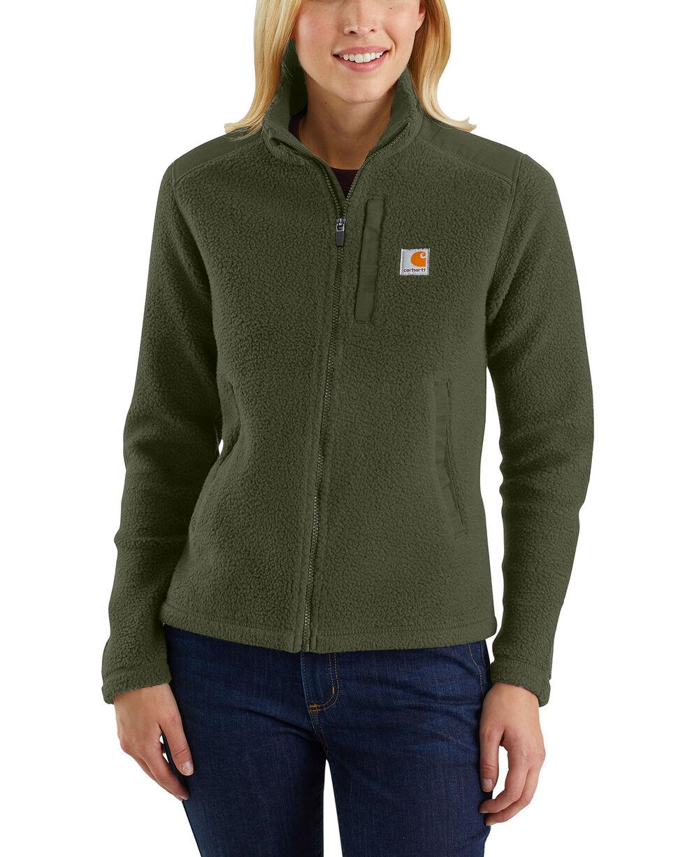Carhartt Women's Yorklyn Mock Neck Full-Zip Jacket , Olive, hi-res