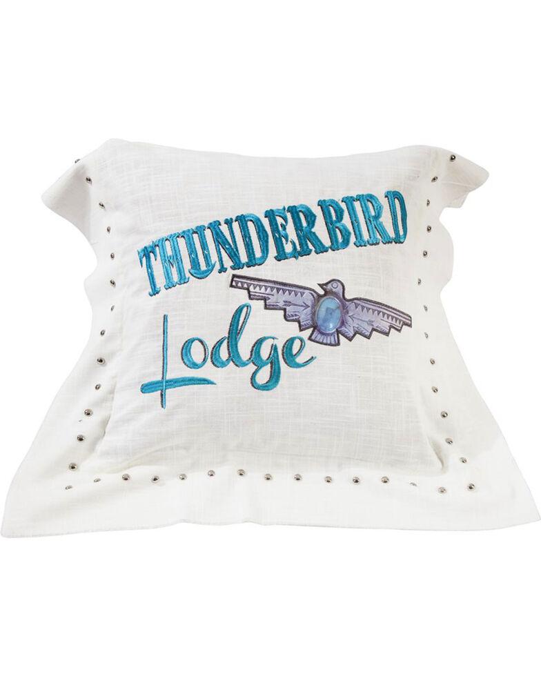HiEnd Accents Thunderbird Linen Pillow , White, hi-res