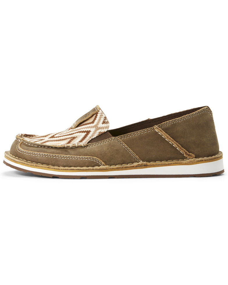 236320fe Zoomed Image Ariat Women's Aztec Cruiser Shoes - Moc Toe, Brown, hi-res