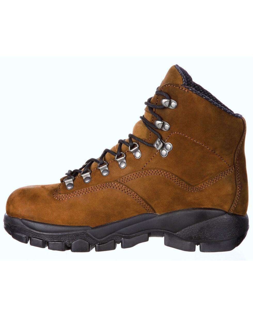 Georgia Boot Men's Suspension System Waterproof Work Boots - Steel Toe , Brown, hi-res