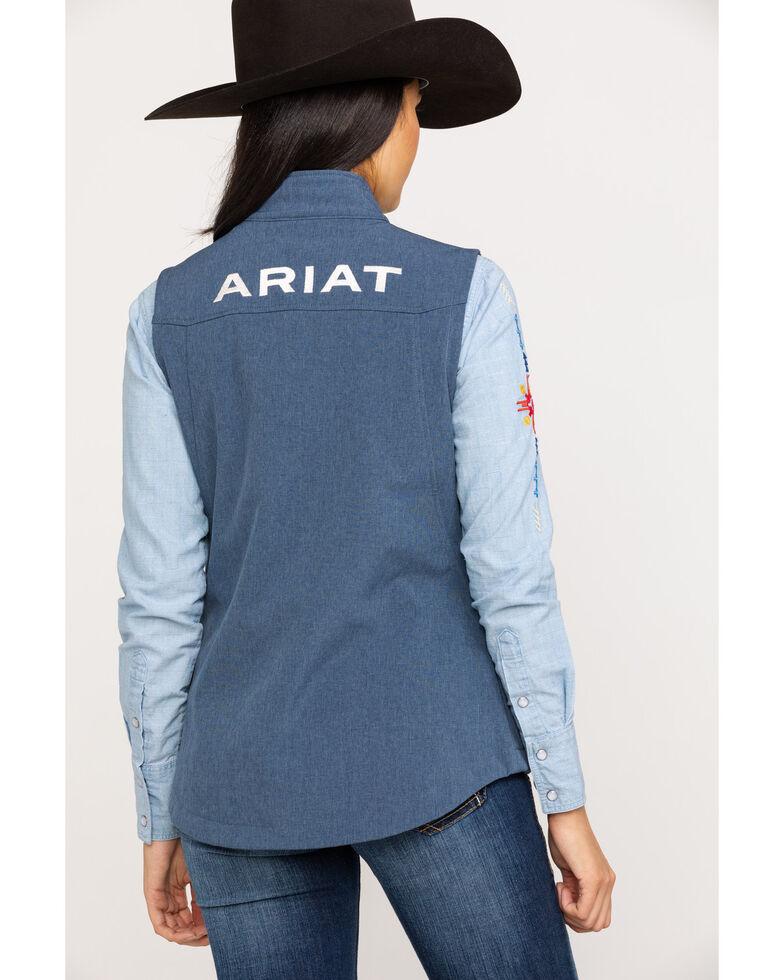 Ariat Women's Lake Life Team Softshell Vest, Blue, hi-res