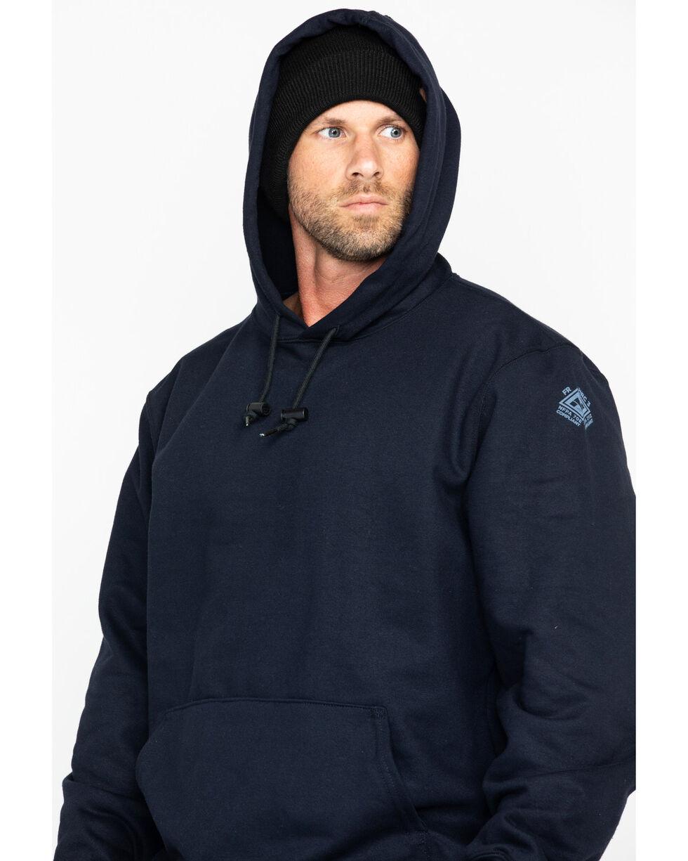 NSA Men's Heavyweight Pullover FR Work Sweatshirt , Navy, hi-res