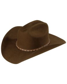 Justin 2X Wool Felt Hat, Brown, hi-res