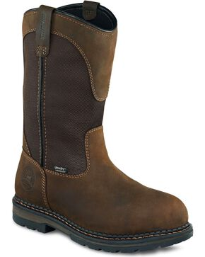 Red Wing Irish Setter Ramsey Waterproof Pull-On Work Boots - Aluminum Toe, Brown, hi-res