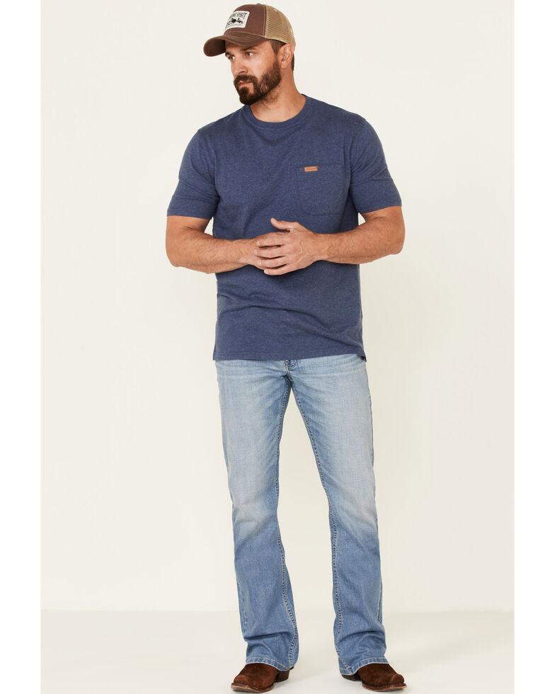 Moonshine Spirit Men's Costner Light Wash Stretch Slim Bootcut Jeans , Blue, hi-res