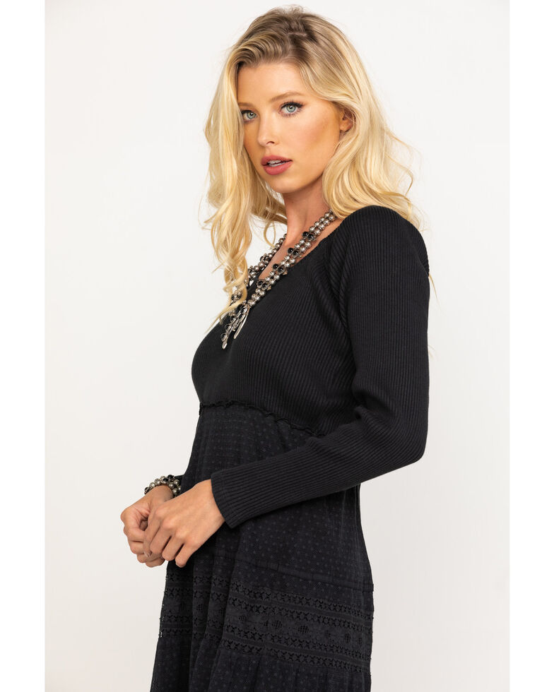 Free People Women's Earth Angel Maxi Dress, Black, hi-res