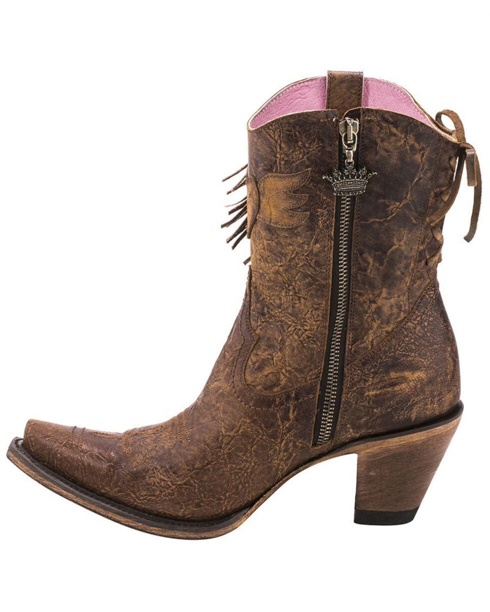 Junk Gypsy by Lane Cream Spirit Animal Boots - Snip Toe , Brown, hi-res