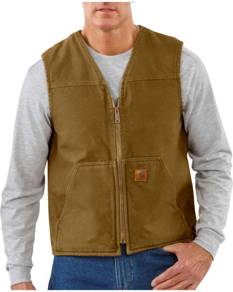 Carhartt Men's Rugged Vest, Light Brown, hi-res