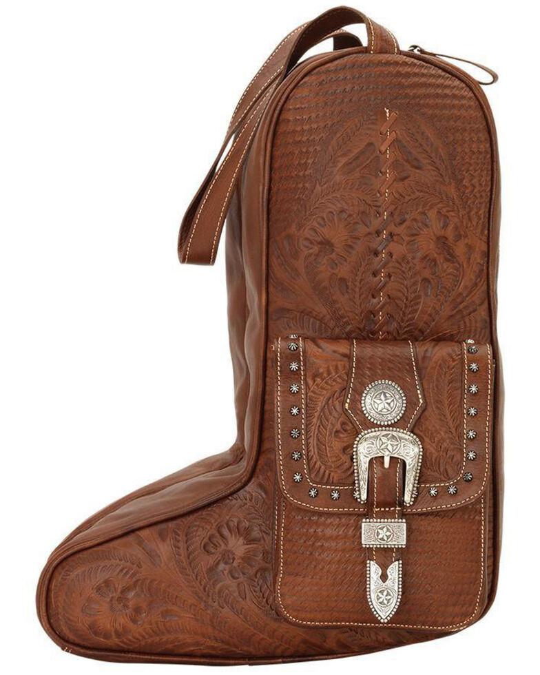 American West Retro Brown Boot Bag, Brown, hi-res