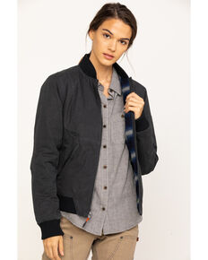 Dovetail Women's Evalen Waxed Canvas Trucker Jacket , Dark Grey, hi-res