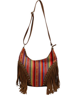 Blazin Roxx Blanket Fringe Shoulder Bag, Multi, hi-res
