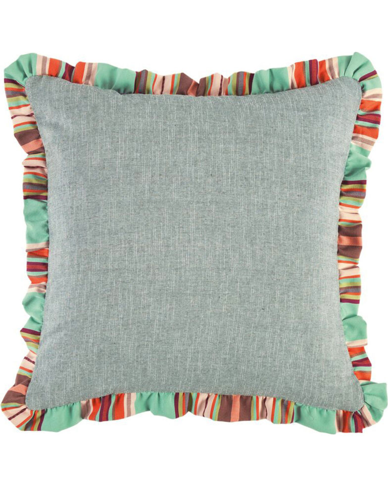 HiEnd Accents Light Blue Serape Ruffle Euro Sham , Light Blue, hi-res