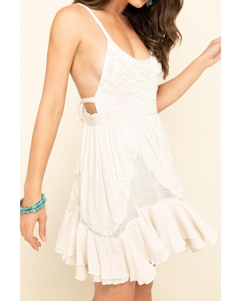 Free People Women's Encrusted Mini Dress, Ivory, hi-res