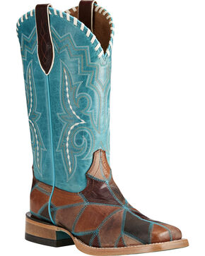 Ariat Women's Reese Western Boots, Brown, hi-res