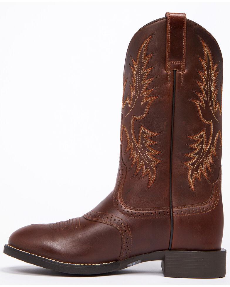 Ariat Men's Nutmeg Heritage Stockman Boots - Round Toe , Brown, hi-res