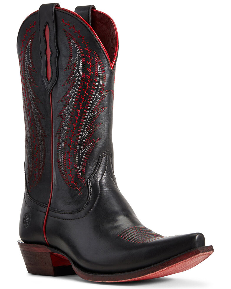 Ariat Women's Tailgate Black Western Boots - Snip Toe, , hi-res