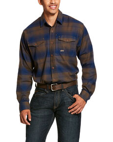Ariat Men's Drake Rebar Flannel Durastretch Long Sleeve Work Shirt - Big , Multi, hi-res