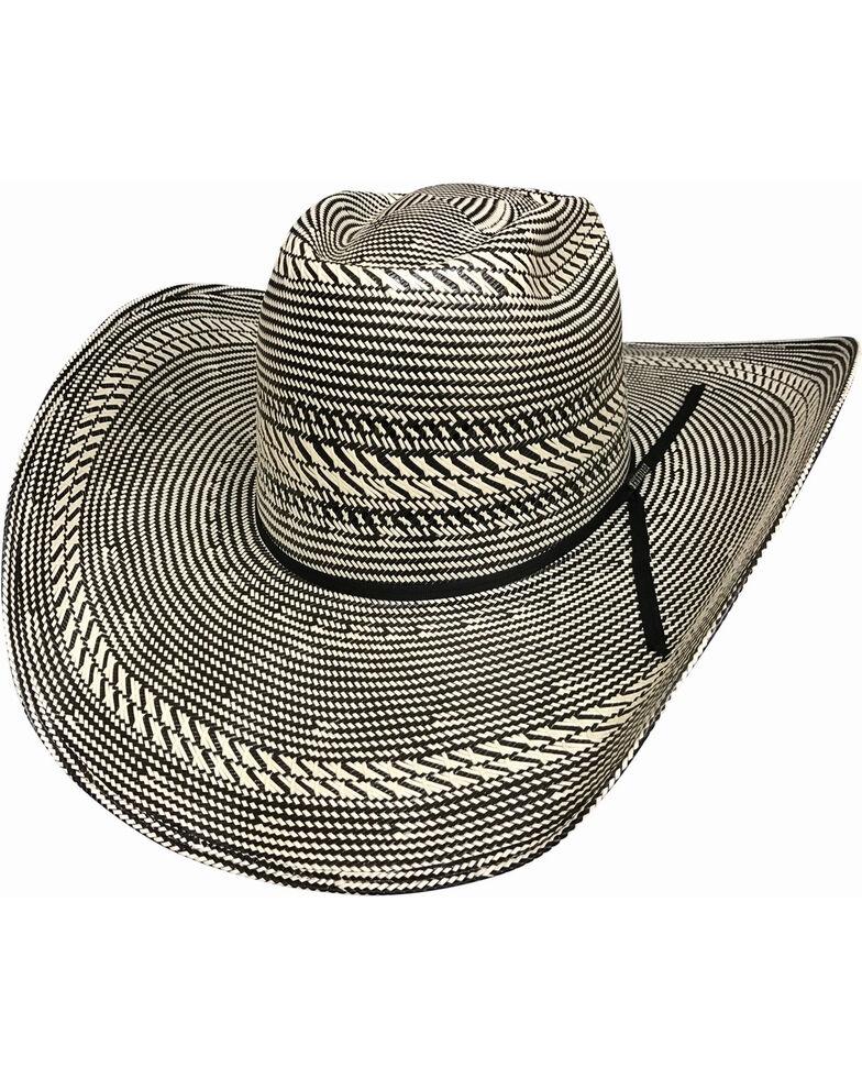 Bullhide Men's The Guru 100X Shantung Panama Straw Cowboy Hat , Black, hi-res