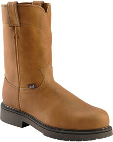 Justin Men's Utah Western Pull-On Work Boots, Aged Bark, hi-res