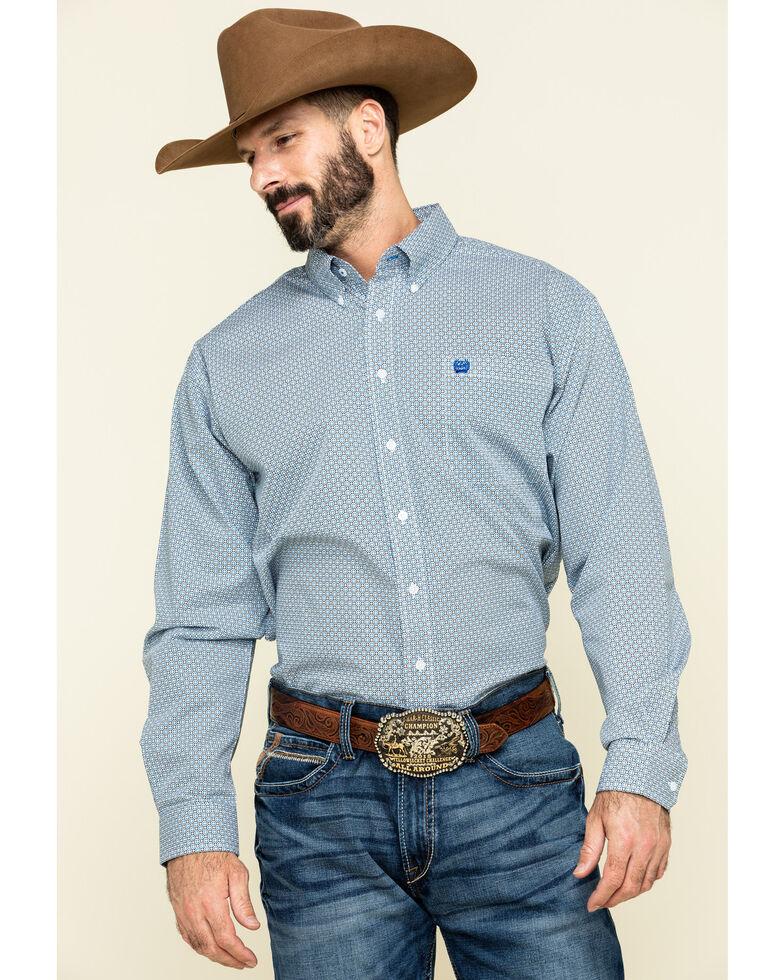 Cinch Men's Multi Circle Geo Print Long Sleeve Western Shirt , Multi, hi-res