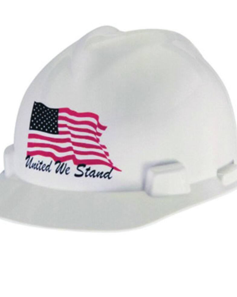 MSA United We Stand VGard Cap Style Work Hard Hat , White, hi-res