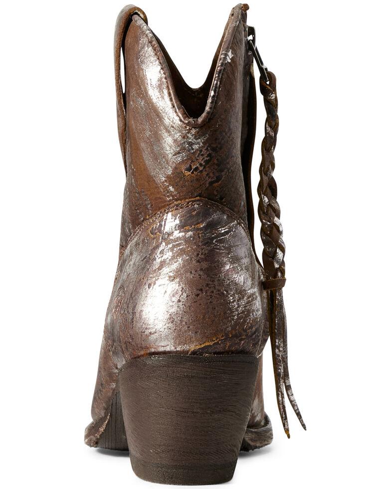 Ariat Women's Circuit Cruz Silver Western Booties - Snip Toe, Brown, hi-res