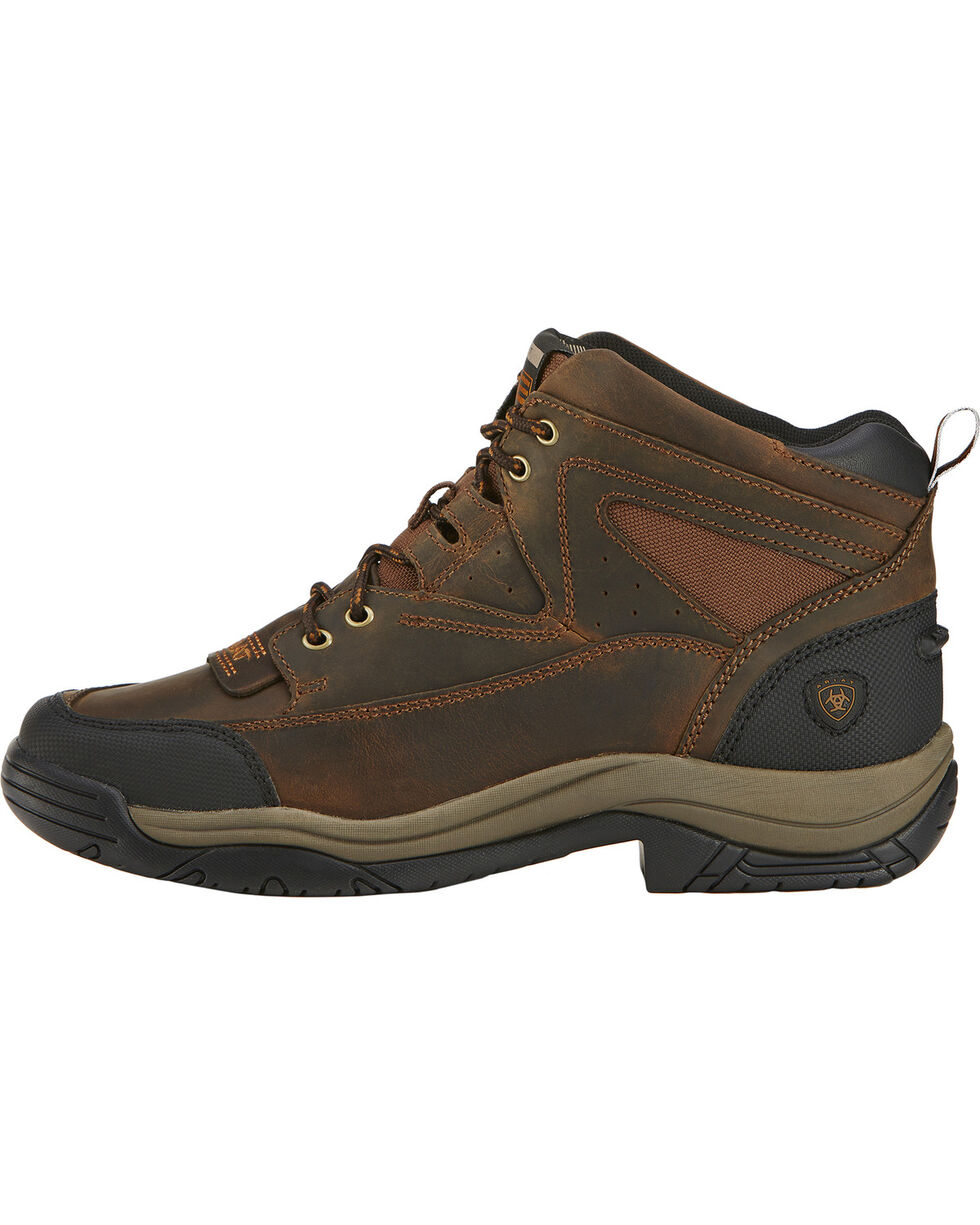 Ariat Men's Terrain Wide Square Toe Endurance Boots, Brown, hi-res